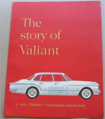PLYMOUTH VALIANT 1960 BROCHURE LIKE VALIANT R