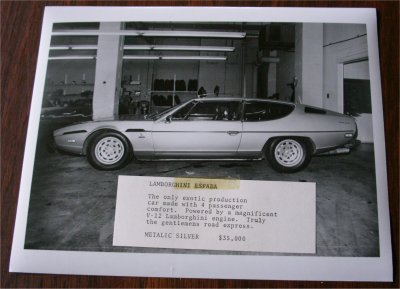LAMBORGHINI ESPADA ORIGINAL PRESS PHOTO