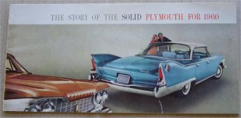 PLYMOUTH 1960 SALES BROCHURE