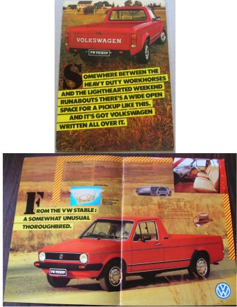 VW GOLF UTE PICK UP SOUTH AFRICAN SALES BROCHURE BAKKIE