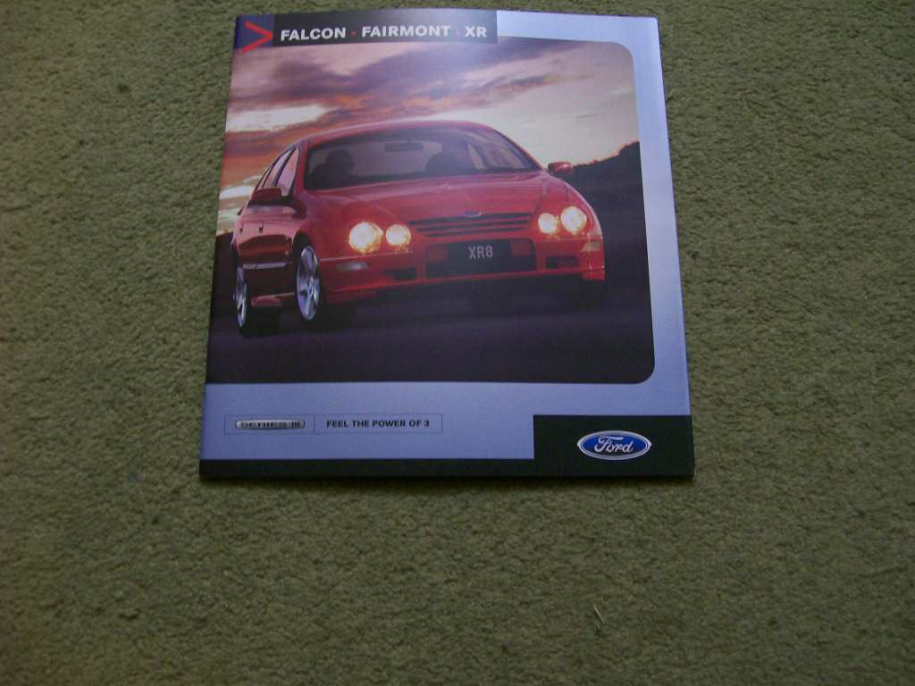 AU FORD SERIES 3 FAIRMONT & GHIA XR FALCON FULL NEW NOS BROCHURE