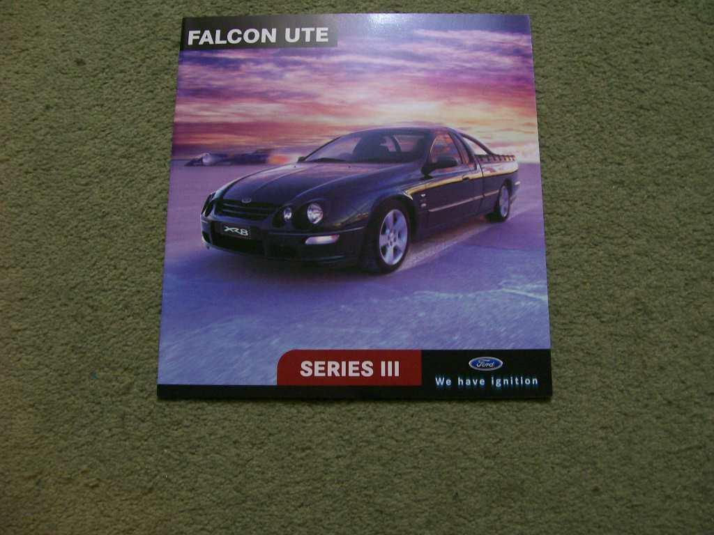 AU FALCON AU XR8 XR6 UTILITY SERIES 3 NOS FULL SALES BROCHURE