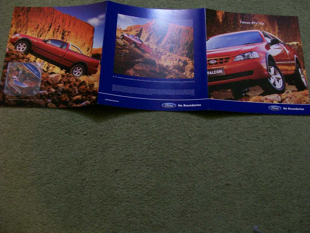 BA FORD FALCON 2003 BA RTV UTE SALES BROCHURE & MINI DISC