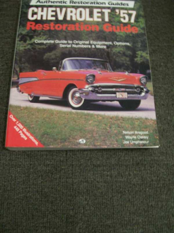 CHEVROLET 1957 RESTORATION GUIDE BIG RARE BOOK