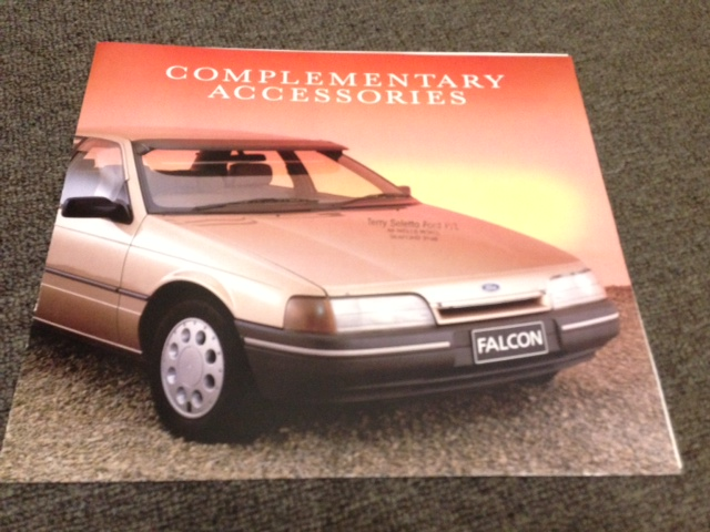 EA FALCON RARE 1988 ACCESSORIES BROCHURE