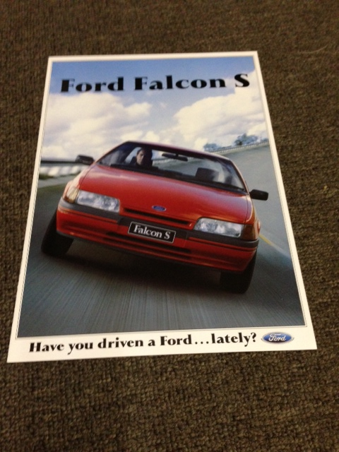 EA FALCON 1989 S PACK SERIES 2 BROCHURE SEDAN WAGON NOS
