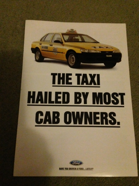 EF FALCON EF 1994 TAXI BROCHURE NICE NEW OLD STOCK