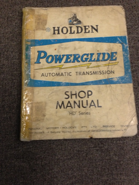 HOLDEN  POWERGLIDE AUTO TRANSMISSION REPAIR MANUAL