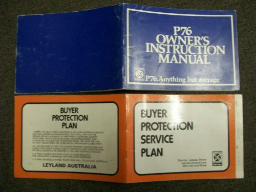 LEYLAND P76 OWNERS MANUAL HANDBOOK & SERVICE BOOKLET