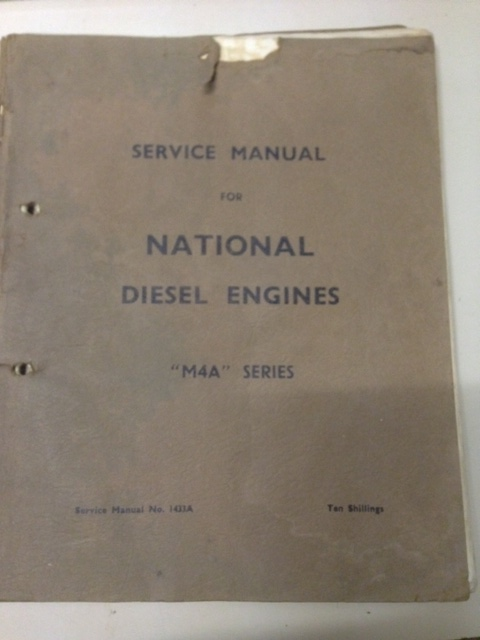 NATIONAL DIESEL M4A VERTICAL 1940s SERIES ENGINE REPAIR MANAUL