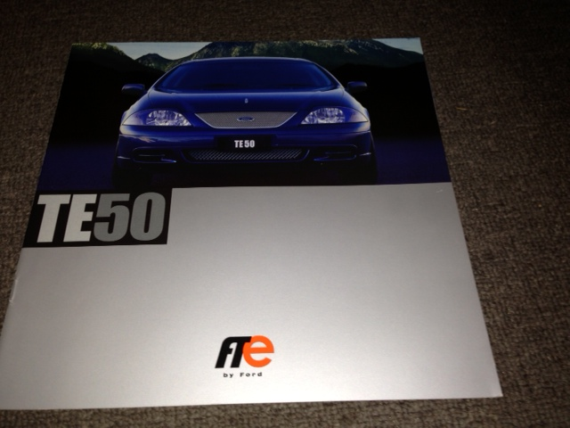 AU FALCON TICKFORD TE50 1999 PRESTIGE LARGE BROCHURE FPV