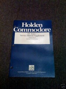 COMMODORE HDT VL RED BROCK SS GROUP A SERVICE MANUAL  NOS