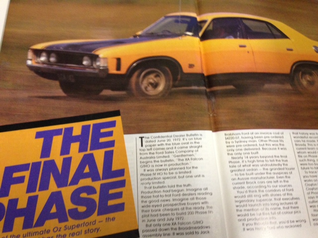 STREET MACHINE 1986 XA FALCON GT HO PHASE 4 STORY
