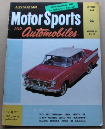 AMS 1961/10 SIMCA VEDETTE  FORD THUNDERBIRD T-BIRD