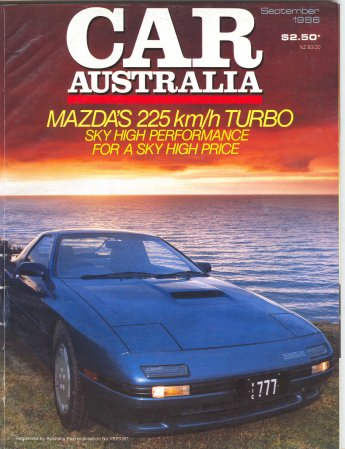 CAR 1986/09 HOLDEN CALAIS VL TURBO MAZDA RX7 ALFA