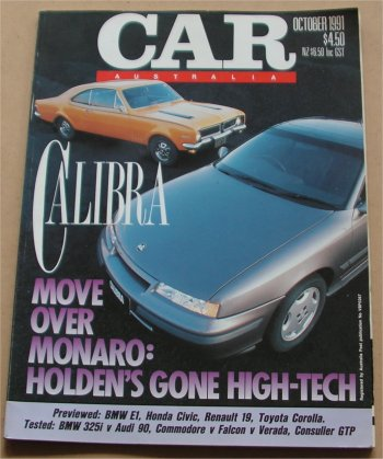 CAR 1991/10 HOLDEN CALIBRA COMMODORE VP FALCON EB