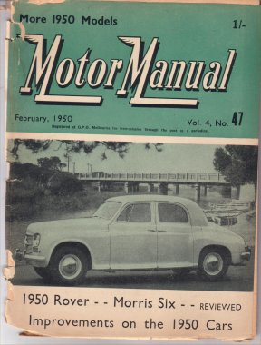 MM 1950/02 ROVER 75 SAAB 92 MORRIS MS 6