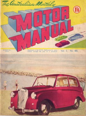 MM 1951/03 TRIUMPH MAYFLOWER HUMBER HOLDEN FXUTE
