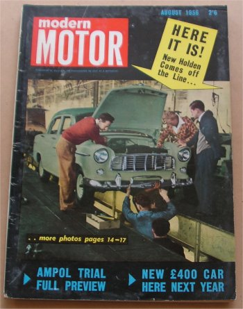 MOTOR 1956/08 HOLDEN FE SCOOP FAMOUS ISSUE RENAULT FREGATE