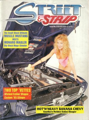 STREET AND STRIP # 08 MAGAZINE MUSTANG