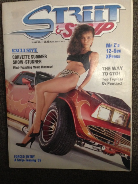 STREET AND STRIP # 07 MAGAZINE RAREST ED CORVETTE SUMMER