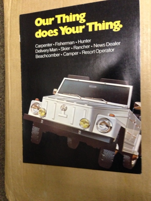 VW THING like aussie COUNTRY BUGGY 1975 VOLKSWAGEN 8PG BROCHURE
