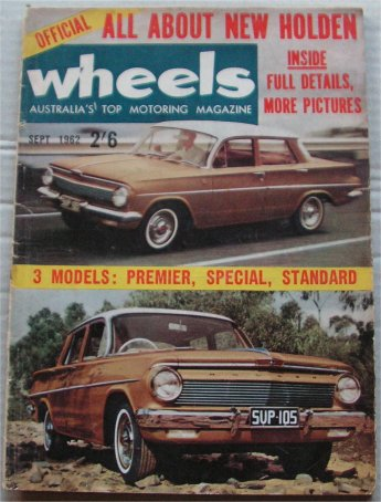 WHEELS 1962/09 HOLDEN EJ MINI FIAT 600 DODGE PHOENIX