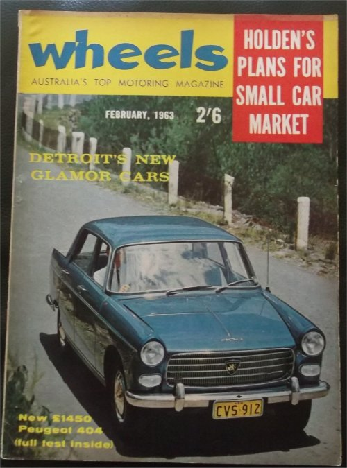WHEELS 1963/02 SUNBEAM RAPIER 3A PEUGEOT 404