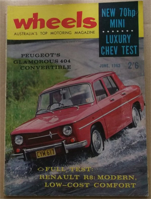 WHEELS 1963/06 CHEVROLET BEL AIR XL FALCON FUTURA RENAULT R8