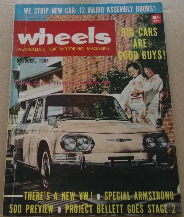 WHEELS 1965/10 FORD CORTINA GT500 HINO CONTESSA TOYOTA CORONA