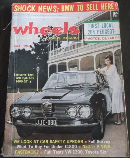 WHEELS 1966/07 ALFA ROMEO 2600 VW BEETLE 1300 TOYOTA CROWN