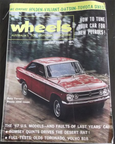 WHEELS 1966/08 MAZDA 1000 VC VALIANT HR PREMIER CROWN CEDRIC GC