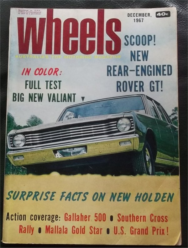 WHEELS 1967/12 VALIANT VE RAMBLER REBEL VOLVO 123GT TOYOTA CROWN